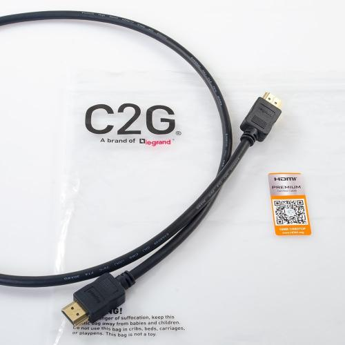 C2G 3ft 4K HDMI Cable With Ethernet   Premium Certified   High Speed   60Hz Alternate-Image4/500