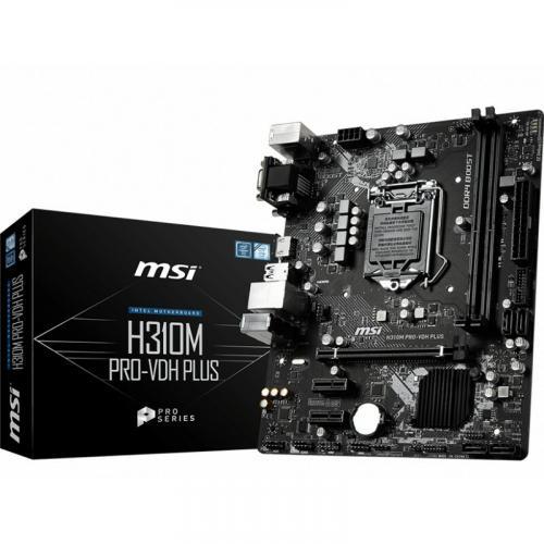 MSI H310M PRO VDH PLUS Gaming Motherboard     Intel Chipset   Socket H4 LGA 1151   32GB DDR4   X Boost   Ez Debug LED Alternate-Image4/500