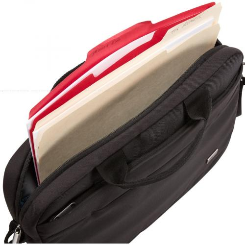 "Case Logic Advantage Carrying Case (Attaché) For 14"" Notebook, Tablet PC, Pen, Portable Electronics, Cord, Cellular Phone, File   Dark Blue Alternate-Image4/500"