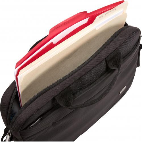 "Case Logic Advantage ADVA 114 BLACK Carrying Case (Attaché) For 10"" To 14.1"" Notebook   Black Alternate-Image4/500"