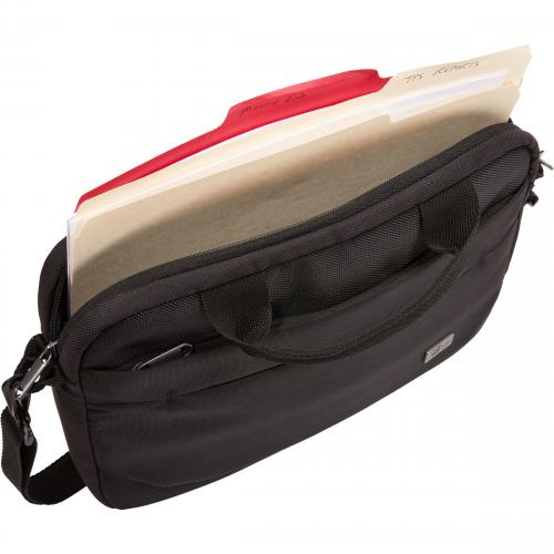 "Case Logic Advantage Carrying Case (Attaché) For 11.6"" Notebook, Tablet PC, Pen, Portable Electronics, Cord, Cellular Phone, File   Black Alternate-Image4/500"