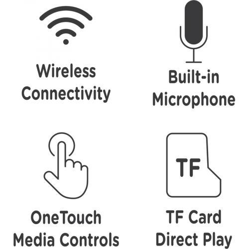 Morpheus 360 Tremors Wireless On Ear Headphones   Bluetooth 5.0 Headset With Microphone   HP4500B Alternate-Image4/500