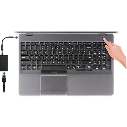 """Dell Latitude 5000 5501 15.6"""" Notebook   1920 X 1080   Intel Core I7 (9th Gen) I7 9850H Hexa Core (6 Core) 2.60 GHz   16 GB RAM   512 GB SSD Alternate-Image4/500"""