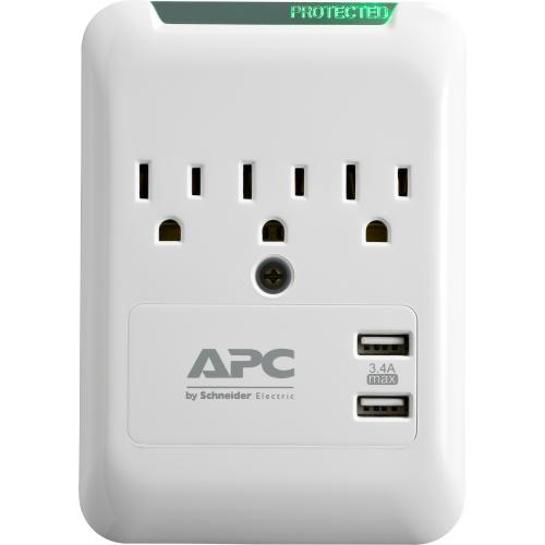 APC By Schneider Electric SurgeArrest Essential 3 Outlet Surge Suppressor/Protector Alternate-Image4/500