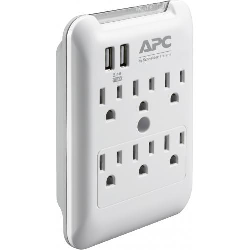 APC By Schneider Electric SurgeArrest Essential 6 Outlet Surge Suppressor/Protector Alternate-Image4/500