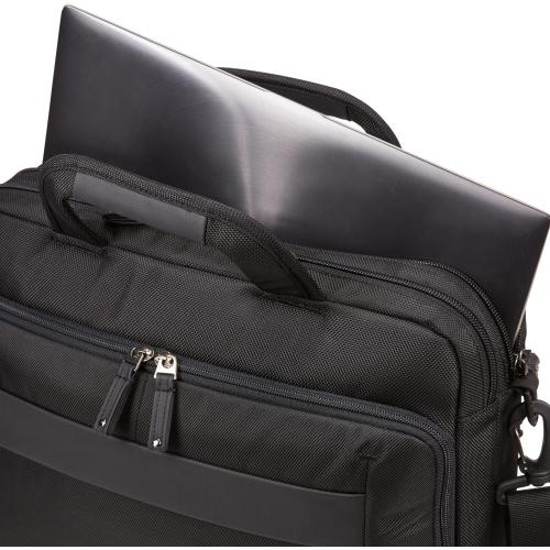 """Case Logic Carrying Case (Briefcase) For 14"""" Notebook, Tablet PC, Portable Electronics, Accessories   Black Alternate-Image4/500"""