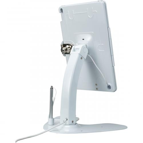 CTA Digital Desk Mount For IPad, IPad Air, IPad Pro, Card Reader   White Alternate-Image4/500