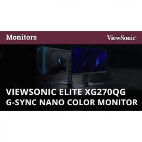 """Viewsonic Elite XG270QG 27"""" WQHD LED Gaming LCD Monitor   16:9 Alternate-Image4/500"""