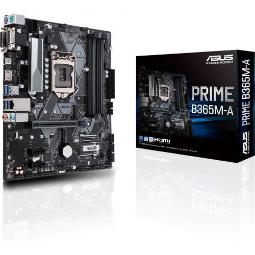Asus Prime B365M A Desktop Motherboard   Intel Chipset   Socket H4 LGA 1151 Alternate-Image4/500