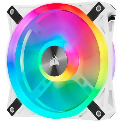 Corsair QL Series, ICUE QL120 RGB, 120mm RGB LED PWM White Fan, Single Fan Alternate-Image4/500