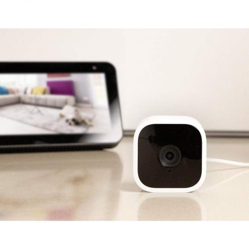 Blink Mini ? Compact Indoor Plug In Smart Security Camera, 1080 HD Video, Night Vision, Motion Detection, Two Way Audio, Works With Alexa ? 2 Cameras Alternate-Image4/500