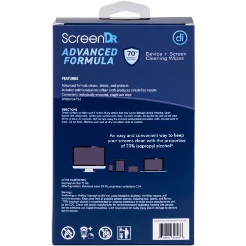 Digital Innovations Screen Dr Advanced Formula (70% Alcohol)Wet Wipes W/ Micofiber Cloth 120 Ct Alternate-Image4/500