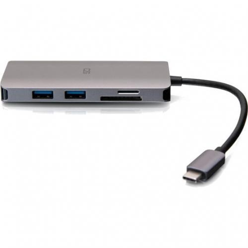 C2G USB C Dock With HDMI, USB, Ethernet, SD, USB C & Power Up To 100W Alternate-Image4/500