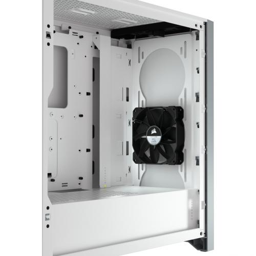 Corsair 4000D Tempered Glass Mid Tower ATX Case   White Alternate-Image4/500