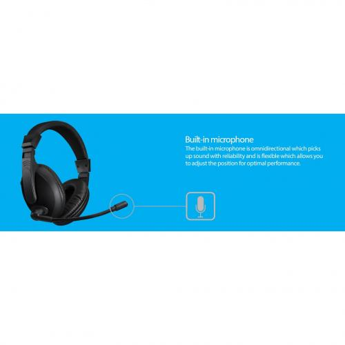 Adesso Xtream H5U   USB Stereo Headset With Microphone   Noise Cancelling   Wired  Lightweight Alternate-Image4/500