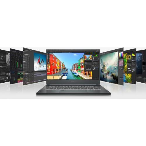 "MSI Creator 15 Creator 15 A10SD 015 15.6"" Gaming Notebook   Full HD   1920 X 1080   Intel Core I7 (10th Gen) I7 10750H 2.60 GHz   16 GB RAM   512 GB SSD   Space Gray With Silver Diamond Cut Alternate-Image4/500"