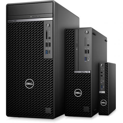 Dell OptiPlex 7000 7080 Desktop Computer   Intel Core I5 10th Gen I5 10500 Hexa Core (6 Core) 3.10 GHz   16 GB RAM DDR4 SDRAM   256 GB SSD   Small Form Factor   Black Alternate-Image4/500