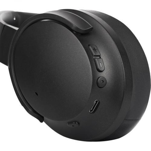 Morpheus 360® KRAVE Wireless Over Ear Headphones, AptX® Immersive Sound, CVC 8.0 Noise Cancelling Microphone, 40 Hour Play Time, Travel Case, Black HP7800B Alternate-Image4/500