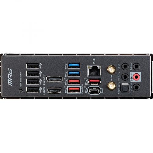 MSI MPG Z590 GAMING CARBON WIFI Desktop Motherboard   Intel Chipset   Socket LGA 1200   Intel Optane Memory Ready   ATX Alternate-Image4/500