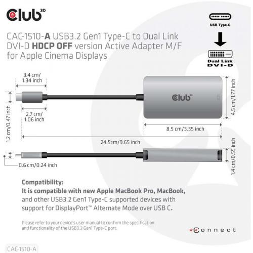 Club 3D DVI D/USB C Video Adapter Alternate-Image4/500