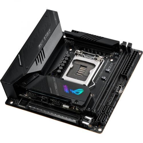 Asus ROG Strix Z590 I GAMING WIFI Desktop Motherboard   Intel Chipset   Socket LGA 1200   Intel Optane Memory Ready   Mini ITX Alternate-Image4/500