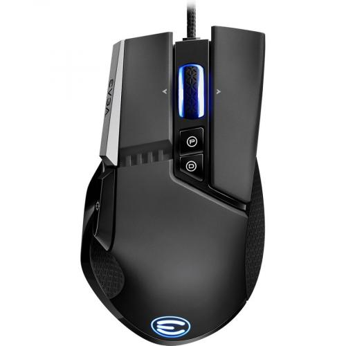 EVGA X17 Wired Customizable Gaming Mouse   USB Cable Interface   16000 Dpi Movement Resolution   10 Total Buttons   5 Customizable On Board Profiles   50 Million Clicks Lifecycle Alternate-Image4/500