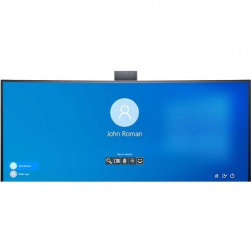 """Dell C3422WE 34.1"""" WQHD Curved Screen Edge WLED LCD Monitor   21:9   Platinum Silver Alternate-Image4/500"""