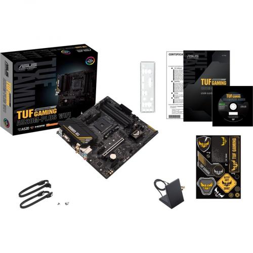 TUF GAMING A520M PLUS WIFI Gaming Desktop Motherboard   AMD Chipset   Socket AM4   Micro ATX Alternate-Image4/500