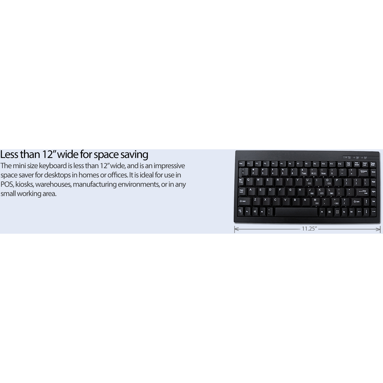 Adesso ACK 595 Mini Keyboard Alternate-Image5