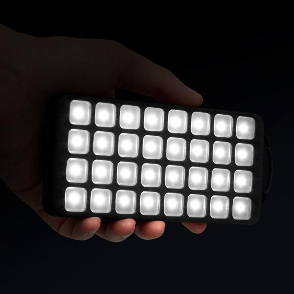 Aluratek 8,000mAh Dual USB 2.1A Power Bank With 32 LED Lantern Alternate-Image5