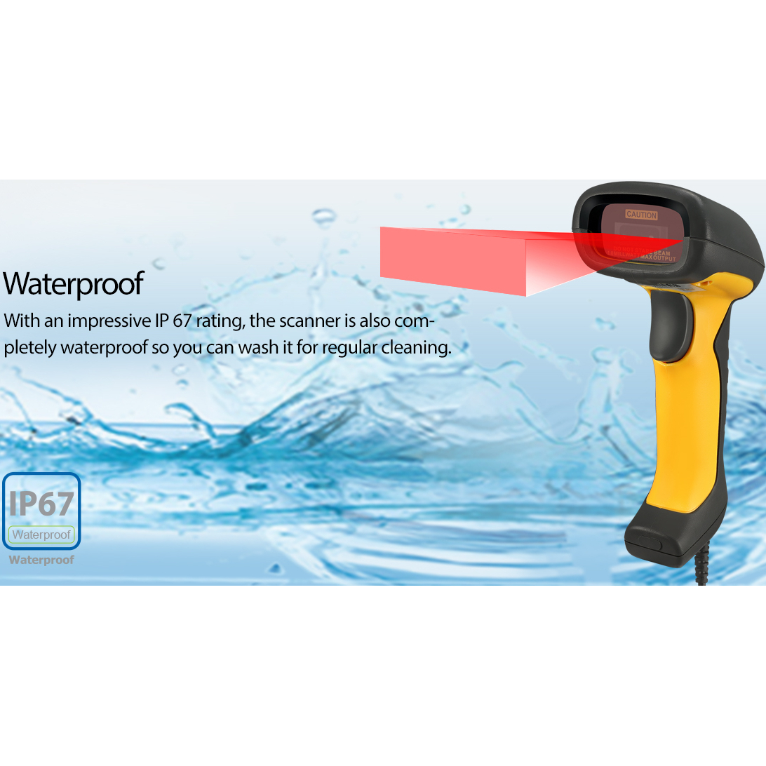 Adesso NuScan 5200TU  Antimicrobial & Waterproof 2D Barcode Scanner Alternate-Image5