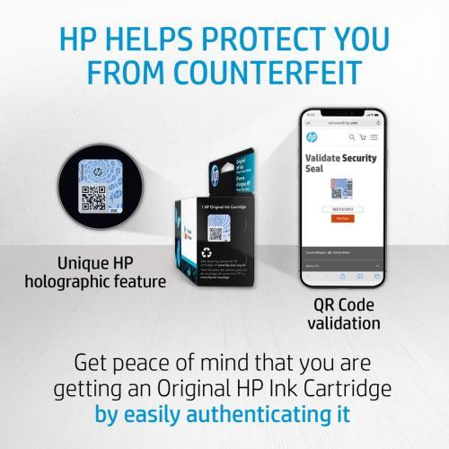 Original HP 74 Black Ink Cartridge | Works With HP DeskJet D4260, D4360; HP OfficeJet J5700, J6400; HP PhotoSmart C4200, C4300, C4400, C4500, C5200, C5500, D5300 Series | CB335WN Alternate-Image5/500