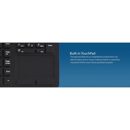 Adesso SlimTouch 270   Antimicrobial Waterproof Touchpad Keyboard Alternate-Image5/500
