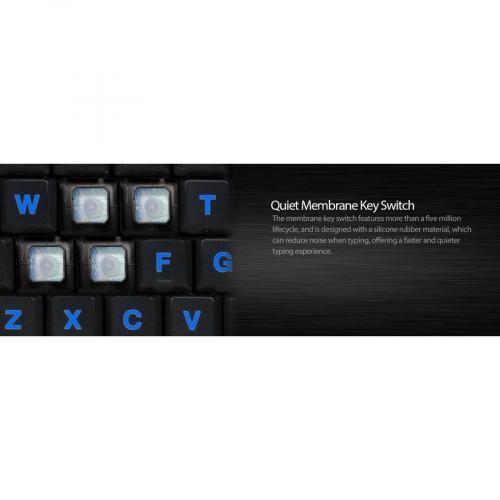 Adesso SlimTouch 120   3 Color Illuminated Compact Multimedia Keyboard Alternate-Image5/500