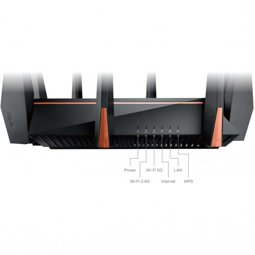 Asus ROG Rapture GT AC5300 IEEE 802.11ac Ethernet Wireless Router Alternate-Image5/500
