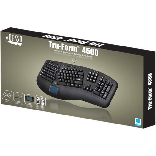 Adesso Tru Form 4500   2.4GHz Wireless Ergonomic Touchpad Keyboard Alternate-Image5/500