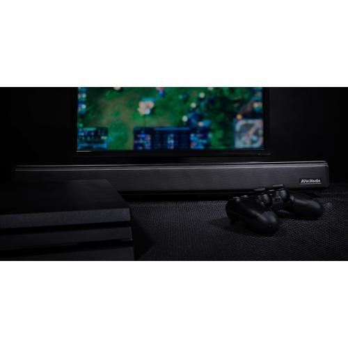 AVerMedia SonicBlast GS333 2.1 Bluetooth Sound Bar Speaker   60 W RMS   Black, Blue Alternate-Image5/500