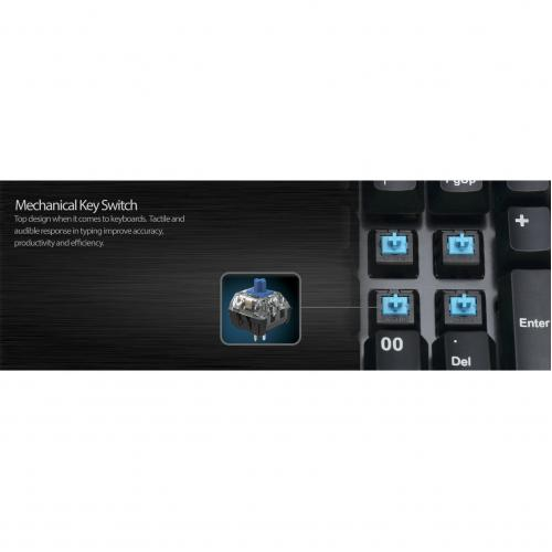 Adesso AKB 600HB   19 Key Mechanical Keypad With 3 Port USB Hub Alternate-Image5/500