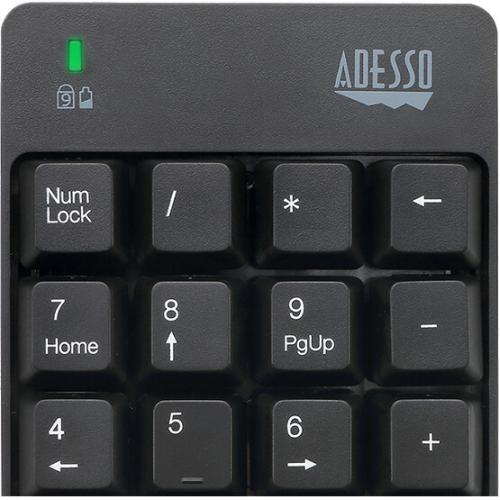 Adesso WKB 6010UB   Wireless Spill Resistant 18 Key Numeric Keypad Alternate-Image5/500