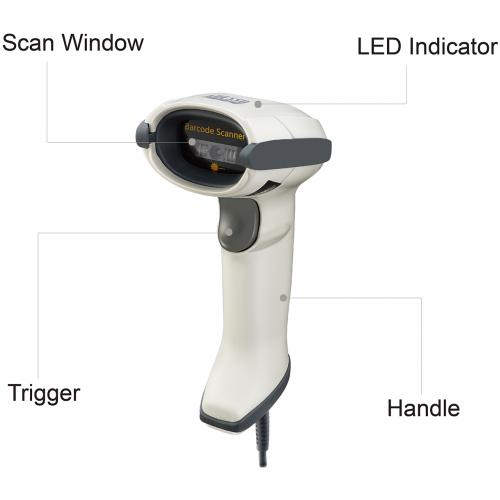 Adesso NuScan 7500CU W Antimicrobial Handheld CCD Barcode Scanner Alternate-Image5/500