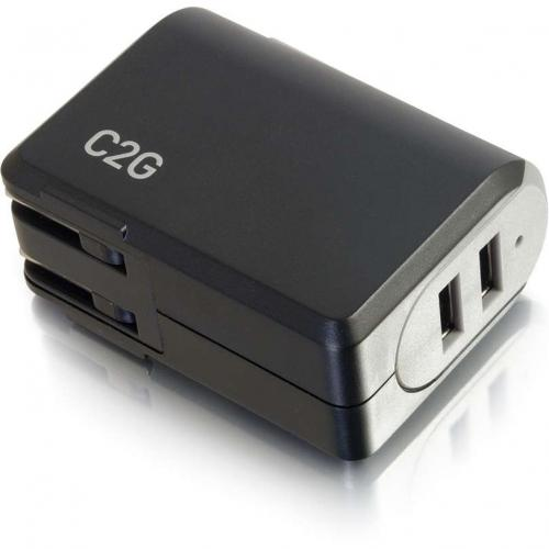 C2G 2 Port USB Wall Charger   AC Power Adapter Alternate-Image5/500