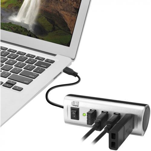 Adesso AUH 2040   4 Port USB 2.0 Hub Alternate-Image5/500