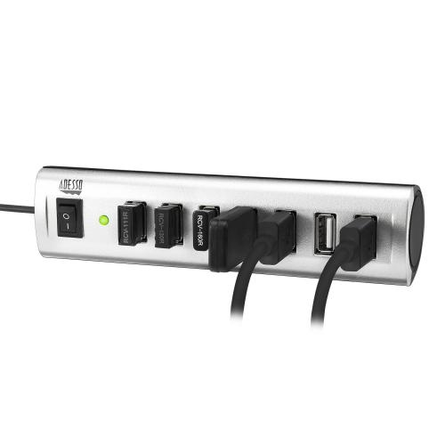 Adesso 7 Ports USB 2.0 Hub With 5V2A Power Adaptor Alternate-Image5/500