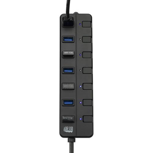 Adesso 7 Ports USB 3.0 Hub With 5V2A Power Adaptor Alternate-Image5/500