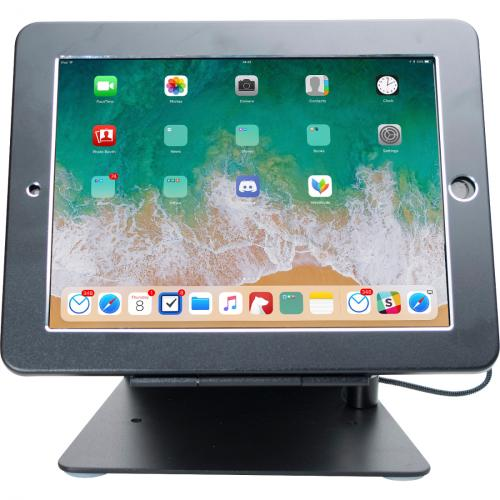 CTA Digital Desktop Anti Theft Stand Ipad Black Case Rotates 360 Degrees Alternate-Image5/500