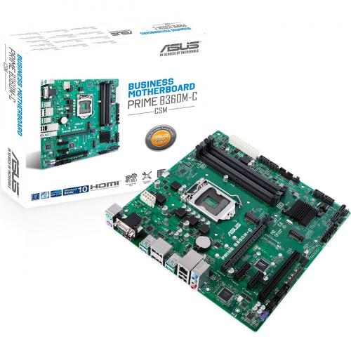 Asus Prime B360M C/CSM Desktop Motherboard   Intel Chipset   Socket H4 LGA 1151 Alternate-Image5/500