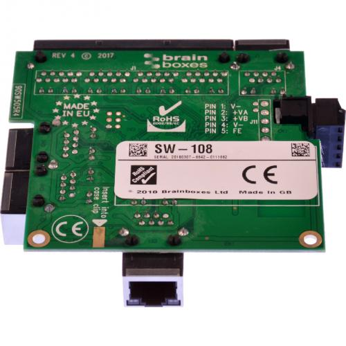 Brainboxes Industrial Embeddable 8 Port Ethernet Switch Alternate-Image5/500