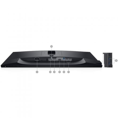 "Dell P  Series 23.8"" Monitor Black & Silver    LED Back Lit   1920 X 1080 Full HD Resolution   Flicker Free Screen W/ ComfortView   Widescreen (16:9)   Three Sided Ultrathin Bezel Design Alternate-Image5/500"