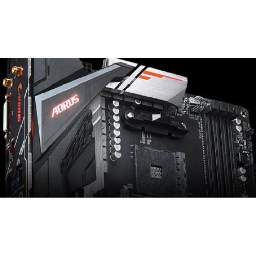 Aorus Ultra Durable B450 AORUS PRO WIFI Desktop Motherboard   AMD Chipset   Socket AM4   ATX Alternate-Image5/500