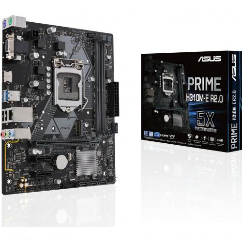 Asus Prime H310M E R2.0 Desktop Motherboard   Intel Chipset   Socket H4 LGA 1151 Alternate-Image5/500